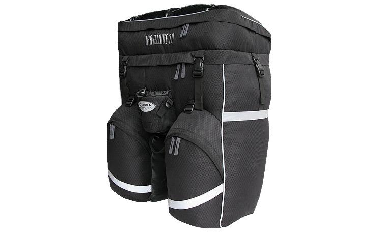 """Рюкзак TravelBike 50/70 Практичный однообъемный велорюкзак (классические """"штаны"""") объемом 50 и 70 литров для дальних велоэкспедиций."""